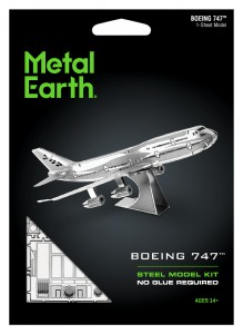 Metal Earth, Boeing 747 model do składania metalowy.