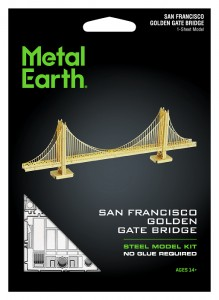 Metal Earth, Most Golden Gate Bridge Wersja Złota Model Do Składania.