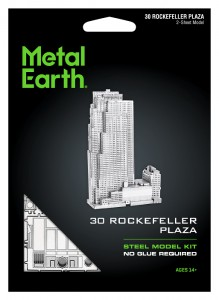 Metal Earth Rockefeller Plaza model do składania metalowy.
