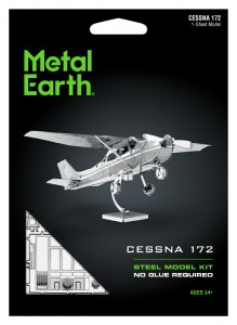Metal Earth, Cessna 172 model do składania metalowy.