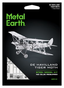 Metal Earth, De Haviland Tiger Moth model do składania metalowy.