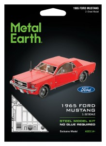 Metal Earth Ford Mustang 1965 (Red) model do składania metalowy