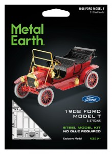 Metal Earth, Ford Model T 1908 r. Red. Metalowy model do składania.