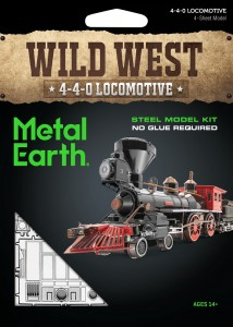 Metal Earth, Lokomotywa 4-4-0 Wild West, Model do składania.
