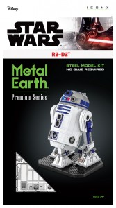 Metal Earth ICONX Star Wars  R2-D2  model do składania metalowy.