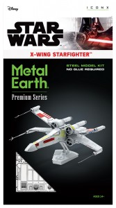 Metal Earth ICONX Star Wars X-Wing Starfighter  model do składania metalowy.