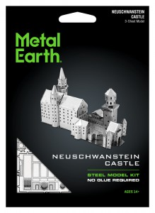 Metal Earth, Zamek Neuschwanstein Castle model do składania metalowy.