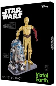 Metal Earth, Star Wars R2-D2 & C-3PO Box Set Model do składania metalowy.
